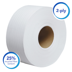 07827 SCOTT ESSENTIAL JUMBO SR TOILET PAPER 2PLY 6/CS