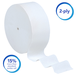 07006 SCOTT JUMBO JR CORELESS TOILET PAPER 2PLY 12/CS 1150'